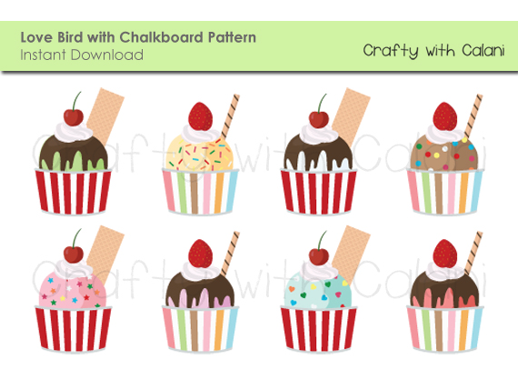 Ice Cream Sundae Clipart on Luulla